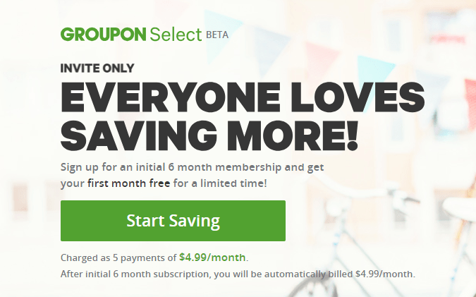 Sign Up For 'Groupon Select' ($4.99/Month), Get $5 Starbucks Gift Card